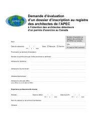 Demande d'évaluation d'un dossier d'inscription au registre des ...