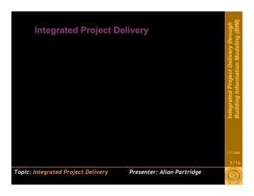 BIM: Integrated Project Delivery