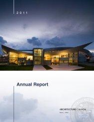 2011 RAIC Annual Report - Royal Architectural Institute of Canada