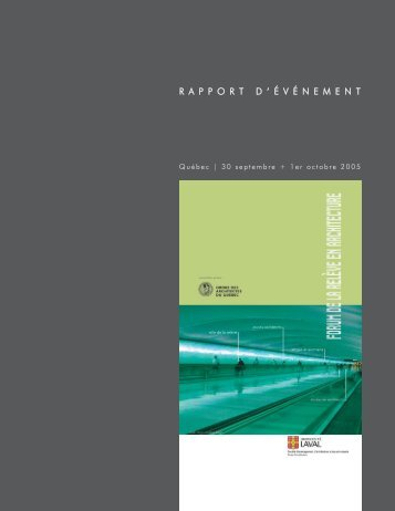 rapportd ' é v é nement - Royal Architectural Institute of Canada