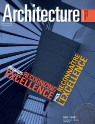 excellence l'excellence - Royal Architectural Institute of Canada
