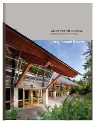 RAIC 2009 Annual Report - Royal Architectural Institute of Canada