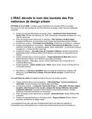 L'IRAC dévoile le nom des lauréats des Prix nationaux de design ...