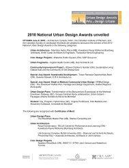 2010 National Urban Design Awards unveiled - Royal Architectural ...