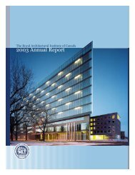 2003 RAIC Annual Report - Royal Architectural Institute of Canada