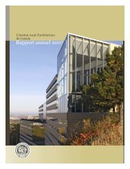 Rapport annuel 2007 - Royal Architectural Institute of Canada