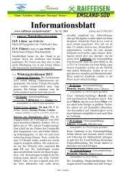 Ausgabe 12/2013 (August) - Raiffeisen Emsland-Süd