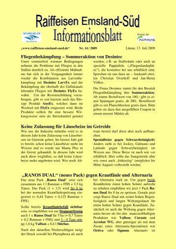 Ausgabe 14/2009 (Juli) - Raiffeisen Emsland-Süd