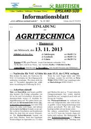 Ausgabe 15/2013 (Oktober) - Raiffeisen Emsland-Süd