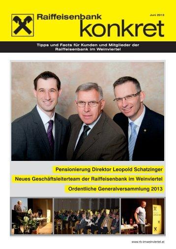 Pensionierung Direktor Leopold Schatzinger Neues ... - Raiffeisen