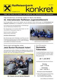 Kundenzeitung Mai 2012 (pdf) - Raiffeisen