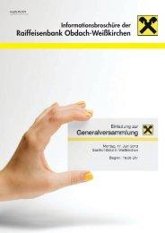 Ausgabe Mai 2013 - Raiffeisen