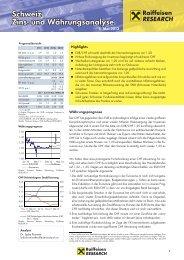 Schweiz Zins- und Währungsanalyse - Internetwertpapiere.at