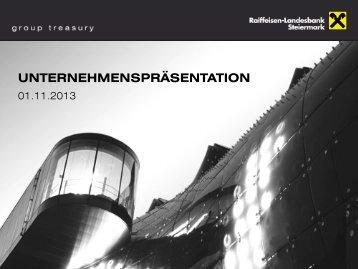 Unternehmenspräsentation November 2013 - Raiffeisen