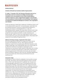 Medienmitteilung Schweizer Wirtschaft auf weiterhin ... - Raiffeisen