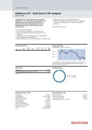 Raiffeisen ETF - Solid Gold H CHF (hedged)