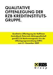 qualitative offenlegung der rzb kreditinstituts- gruppe. - Raiffeisen ...