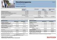 Dienstleistungspreise Firmenkunden ab 1.1.2014 - Raiffeisen
