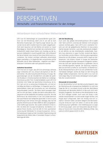 Perspektiven Nr. 01 / 2014 - Raiffeisen