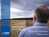 Nachhaltigkeit in der Landwirtschaft auf dem Prüfstand - Der DRV