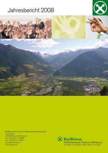 Jahresbericht 2008 - Raiffeisen