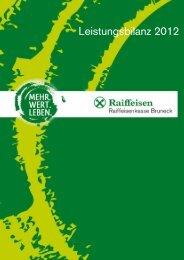 Leistungsbilanz 2012 - Raiffeisen