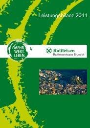 Leistungsbilanz 2011 - Raiffeisen