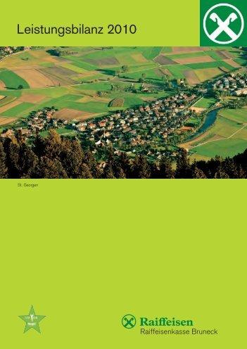 Leistungsbilanz 2010 - Raiffeisen