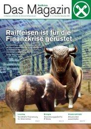 Raiffeisen ist für die Finanzkrise gerüstet
