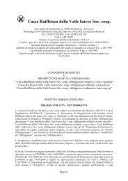 Condizioni definitive - Raiffeisen
