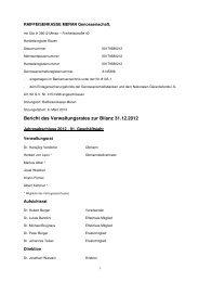 Bericht des Verwaltungsrates zur Bilanz 31.12.2012 - Raiffeisen