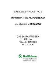 Informativa 31.12.2009 - Raiffeisen