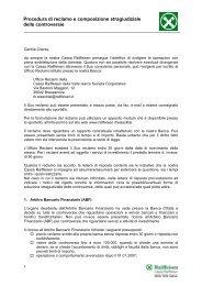 Procedura di reclamo e composizione stragiudiziale ... - Raiffeisen