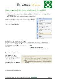 Einrichtung eines E-Mail-Kontos unter Microsoft ... - Raiffeisen OnLine