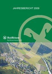 Jahresbericht 2009.cdr - Raiffeisen