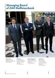 Managing Board of ZAO Raiffeisenbank