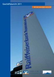 Geschäftsbericht 2011 - Raiffeisenbank Rosenstein eG