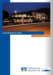 Geschäftsbericht 2009 - Raiffeisenbank Rosenstein eG