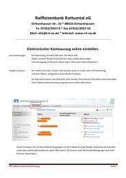 Beschreibung elektronischer Kontoauszug - Raiffeisenbank ...