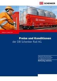 Preise und Konditionen der DB Schenker Rail AG - Intermodal