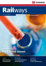 Die Chemie stimmt - DB Schenker Rail
