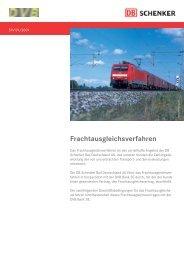 Frachtausgleichsverfahren - DB Schenker Rail