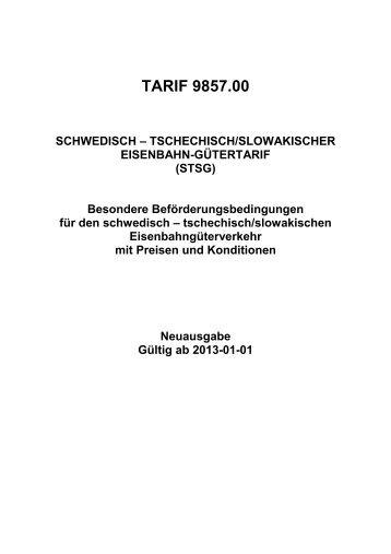 TARIF 9857.00 - DB Schenker Rail