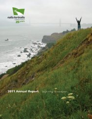 2011 Annual Report inspiring movement - Rails-to-Trails Conservancy