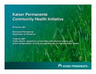 Kaiser Permanente Community Health Initiative - Rails-to-Trails ...
