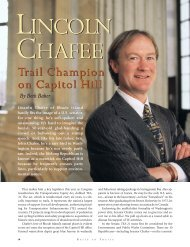 Lincoln Chafee - Rails-to-Trails Conservancy