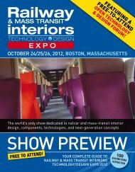 interiors - Railway & Mass Transit Interiors Technology / Design ...