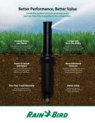 Better Performance, Better Value - Rain Bird irrigation