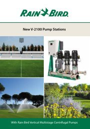 Brochure V-2100 - Rain Bird irrigation