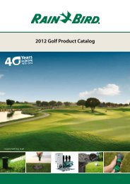 2012 Golf Product Catalog - Rain Bird irrigation